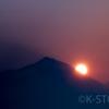 磐梯山の日の出
