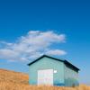 緑色の小屋