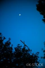 夕暮れ/月と十字