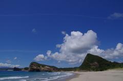 種子島の青空と海