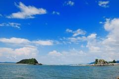 海風と夏の空