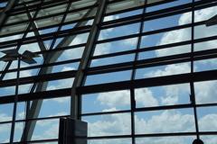 1年ぶりに見る浦東の空は青かった