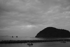 今日は曇り 台風が近づいてる