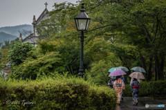 洋傘と着物2
