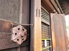 東寺五重塔の猪目模様
