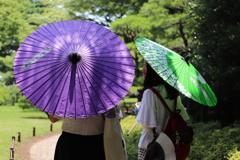 和日傘をさして