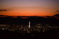 夕景 清水寺からの京都タワー