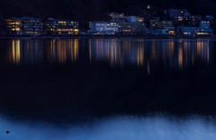 夜明け前の河口湖