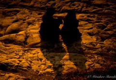 二人の夕影
