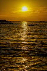 真名瀬海岸 夕陽