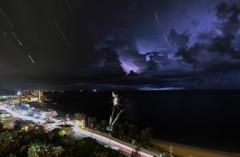 沖縄の夜を連続撮影
