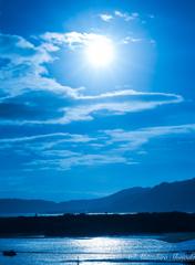 川平湾からの朝陽