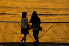海辺の黄昏