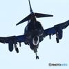 百里基地 アプローチ RF-4E(洋上迷彩)