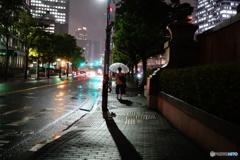 大阪中の島 雨1