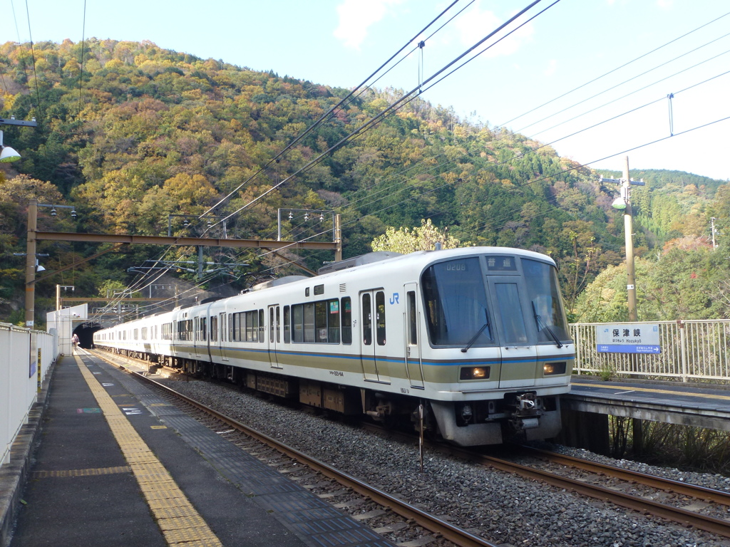山陰線(JR嵯峨野線)保津峡駅