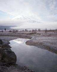 オートハーフで撮る富士山