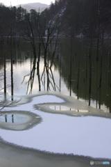 冬の自然湖