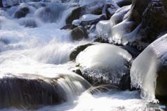 冬の渓谷4