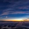 火星と夕焼けと雲海