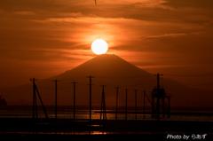 江川海岸からの夕日