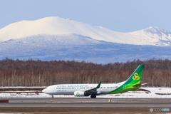 樽前山と春秋航空
