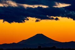 132km向こうの富士山