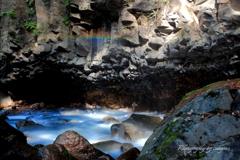 虹とスッカンブルー