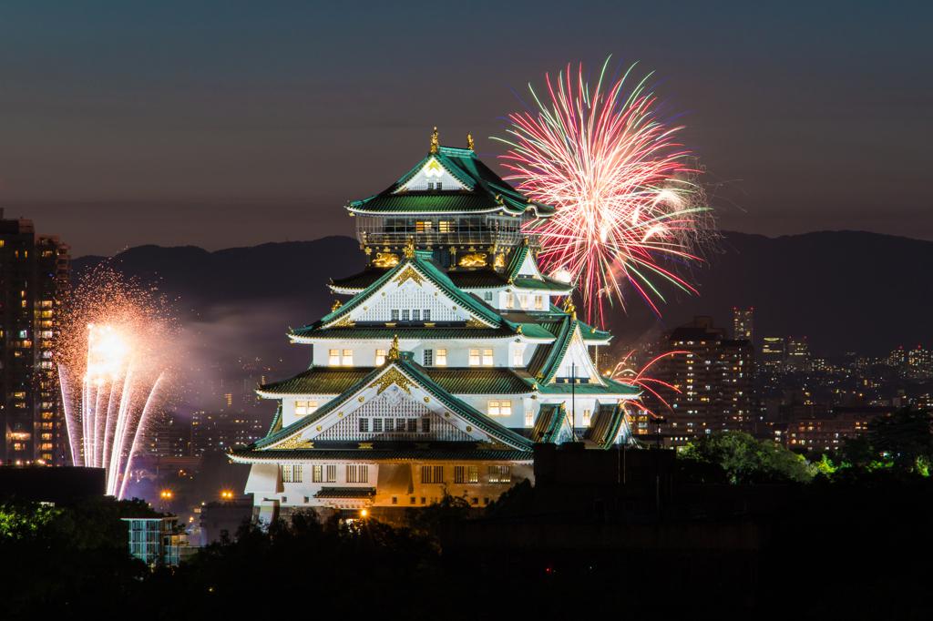 大阪城 花火 天神祭 by TEXAS (...