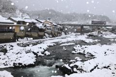冬景色の芸備線備後西城