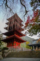 山梨県 久遠寺の五重塔