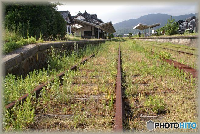 古い写真から 旧大社駅 線路
