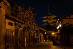八坂通の夜