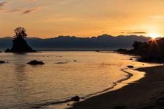 ある海岸の朝景