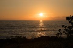 雄島で見た夕陽