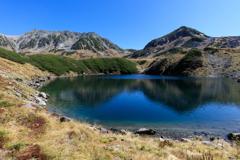青き湖面の池