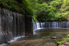 避暑地の滝
