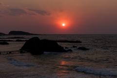 真っ赤な太陽