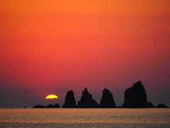 島の日の出