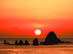 七ッ岩日の出