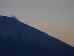富士と流星