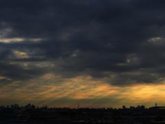 東京の斜光事例