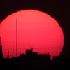 都会の朝日