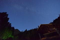 満天の星空とロッヂ