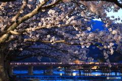 夕暮れの渡月橋①