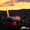 夕暮れの離陸機 #2