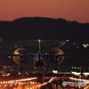 夕暮れと飛行機 #2
