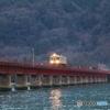 夕刻の由良川橋梁