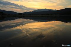 水面に見る景色