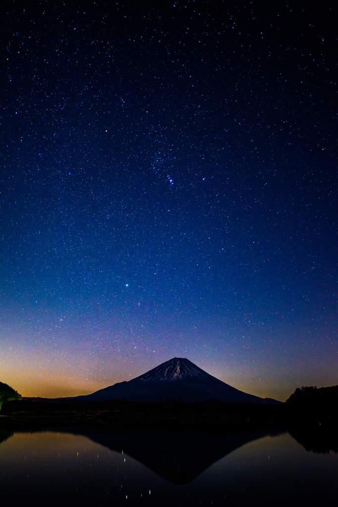 富士とオリオン